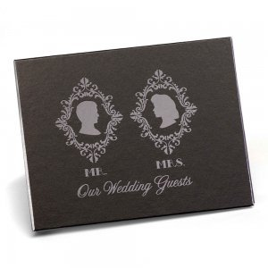 Silhouette Wedding Guest Book image