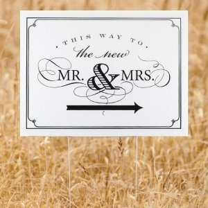 Golden Elegance Mr. & Mrs. Yard Sign image