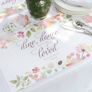Floral Forever Personalized Place Mats (Set of 50) image
