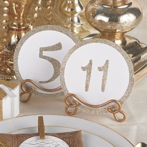 Glitter Table Number Cards - Gold or Silver image