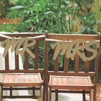 Glitter Mr & Mrs Sign Set - Gold or Silver