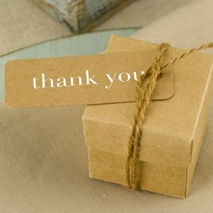 Kraft Thank You Tags in Gold or Silver (Set of 25) image