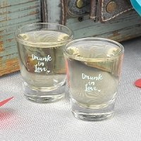 Drunk in Love Wedding Shot Glass