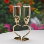 Sparkling Hearts Linked Flutes