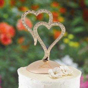Sparkling Hearts Cake Top image