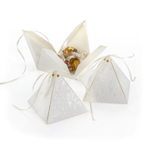 Lace Shimmers Favor Box (Set of 25) image