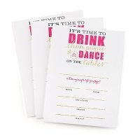 Champagne Dance Bachelorette Party Invitations (Set of 25)