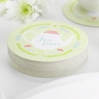 Tea Time Bridal Shower Coasters