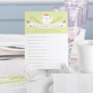 Tea Time Bridal Shower Game Card image
