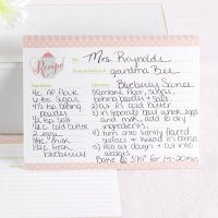 Tea Time Recipe Card (Set of 25)