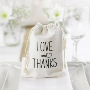 Love and Thanks Cotton Favor Bags image