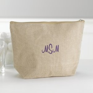 Custom Jute Cosmetic Bag image
