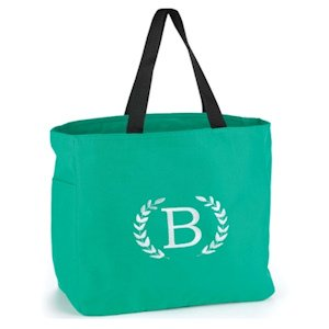 Crest Monogram Tote Bag (8 Colors) image