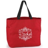 Flourish Frame Personalized Tote Bag (8 Colors)