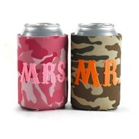 Mr. & Mrs. Camo Can Coolies Set