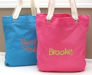 Custom Canvas Beach Tote (4 Colors) image