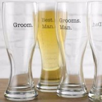Groom's Wedding Party Pilsners (4 Designs)