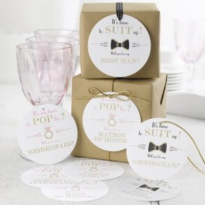 Pop the Question Gift Tag Set image