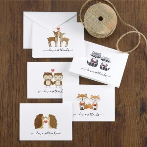 Woodland Love Thank You Cards (Set of 25) image