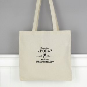 Pop the Question Bridal Party Tote Bag image