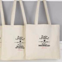 Pop the Question Bridal Party Tote Bag