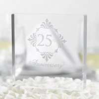 Silver Anniversary Cake Top