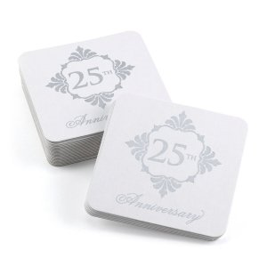 Silver Anniversary Coasters image