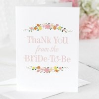 Botanical Bridal Shower Thank You Cards