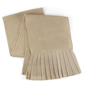Pleated Burlap Table Runner image
