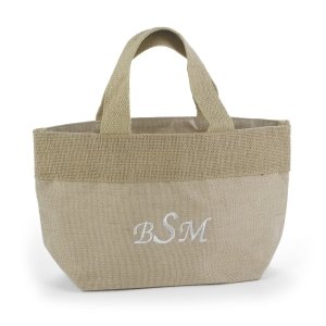 Custom Natural Jute Small Personalized Tote Bag image