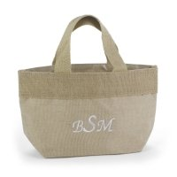 Custom Natural Jute Small Personalized Tote Bag