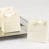 Ivory Scalloped Edge Personalized Favor Boxes (Set of 25)