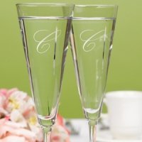 Simple Flare Personalized Toasting Flutes