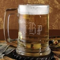 Personalized Glass Tankard