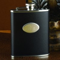 Personalized Black Flask (6oz or 8oz)