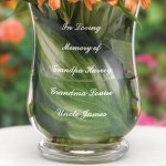 In Loving Memory Engraved Memorial Vase for Weddings