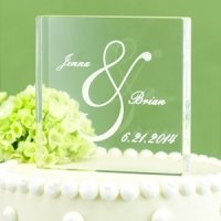 Personalized Ampersand Acrylic Wedding Cake Top