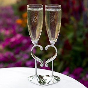 Linked Love Wedding Toast Glasses image