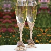 Country Flair Wedding Toasting Flutes