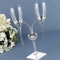 Raindrop Flutes with Silver Holder (Personalized Option)