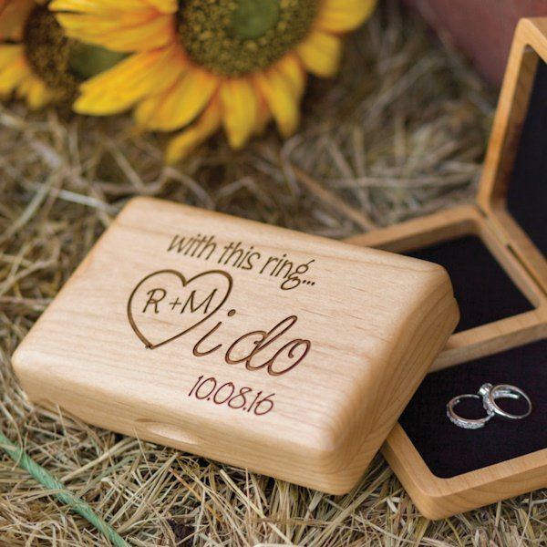i do personalized wedding ring box for ceremony With wedding ceremony ring box