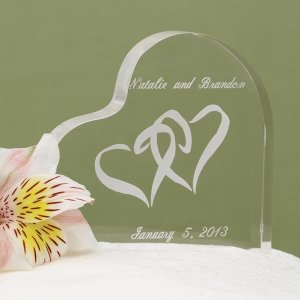 Entwined Heart Acrylic Cake Top image