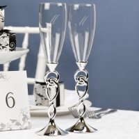 Love Knot Wedding Champagne Flutes