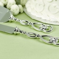 Love Knot Wedding Cake Knife & Server Set