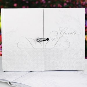 Gatefold Large Wedding Guest Book (up to 1000 signatures) image