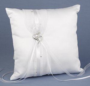 Heartfelt Whimsy Wedding Ring Pillow image