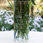 Wedding Words Glass Cylinder