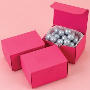 Fuchsia Rectangular Favor Boxes image