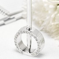 Jeweled Ring Wedding Pen Stand
