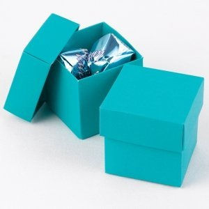 Mix and Match Two Piece Palm Blue Favor Boxes (Set of 25) image